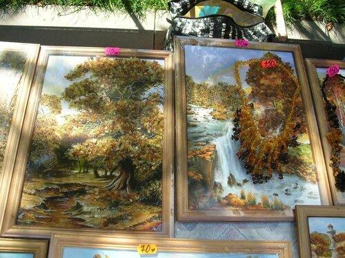 Набережная - Картины с янтарем_2