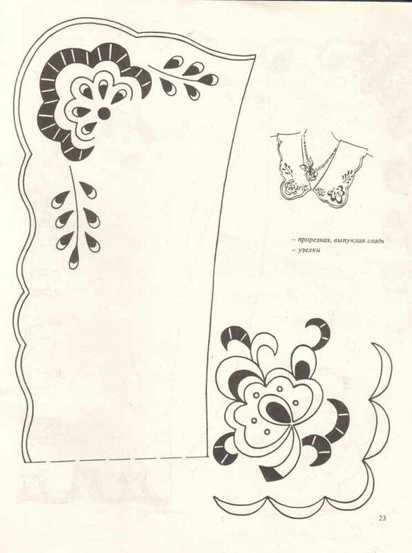 Вышивка ришелье схемы рисунки