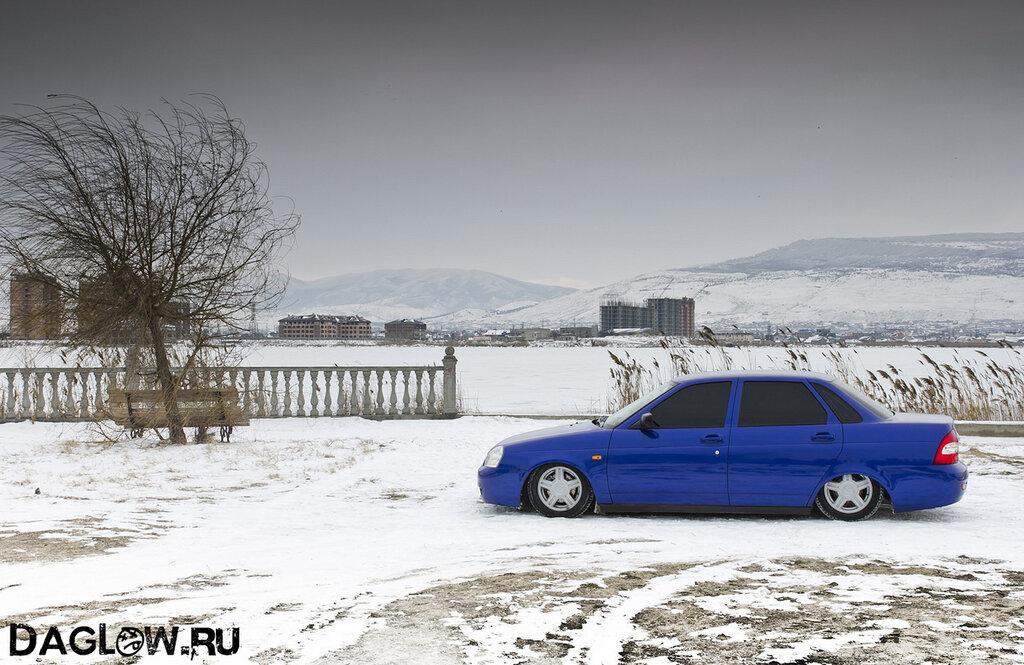 синяя приора фото