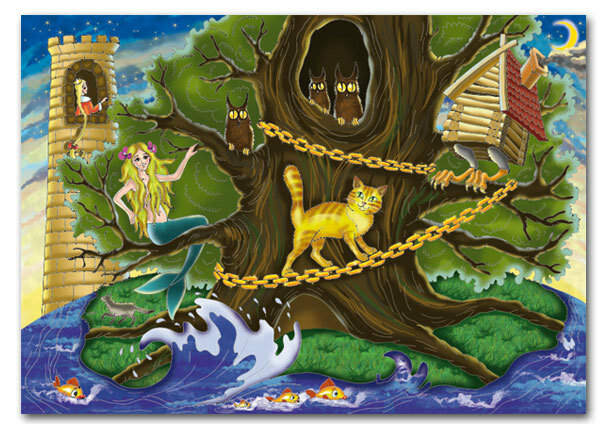 У лукоморья дуб зеленый А С Пушкин - Лукошко сказок