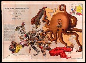1900. «Джон Булль и его друзья шуточные карты Европы», Лондон