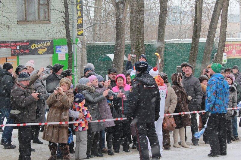 Эстафета олимпийского огня в Кирове: болельщики