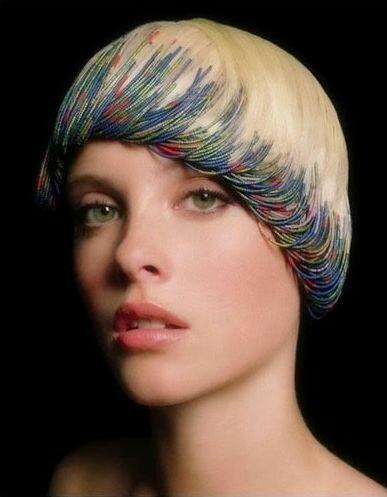 Украшение волос бисером Роберто Perozzi
