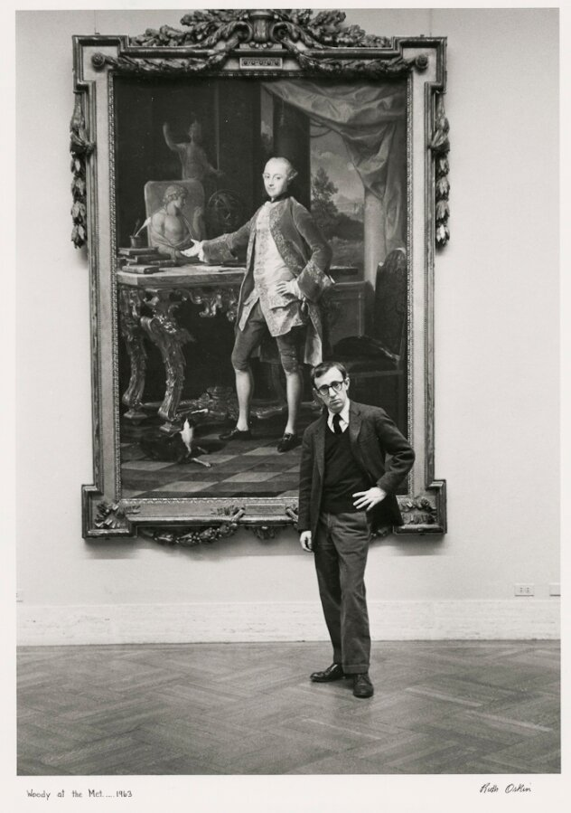 Ruth Orkin, Woody Allen at the Metropolitan Museum of Art, 1963