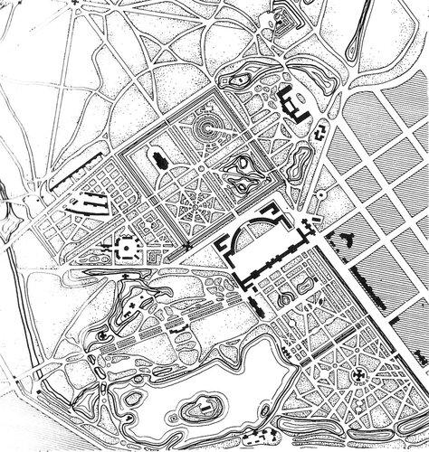 Парки города Пушкин (Екатерининский и Александровский), план