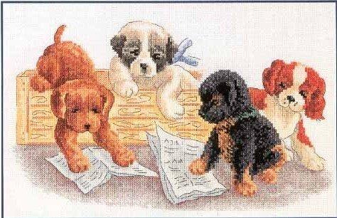 Подборка из 9 схемы вышивки крестом наших любимых домашних животных - кошек и собак.  Скачать бесплатно схемы вышивки...