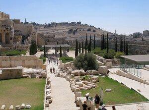 Вид на Елеонскую (Масличную) гору. Иерусалим...