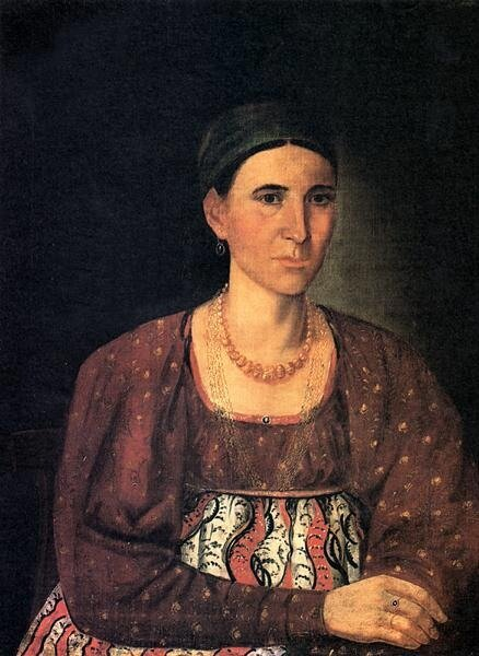 Мельников Иван Иванович. Портрет Зуевой.1849.