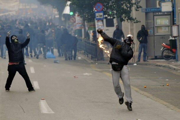 Austerity Protesters Clash With Police In Athens