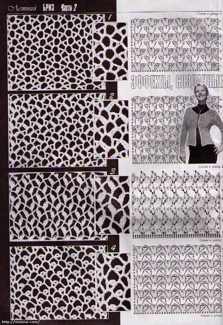схема вязания сетки крючком
