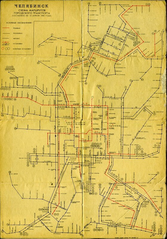 Схема маршрутов пассажирского