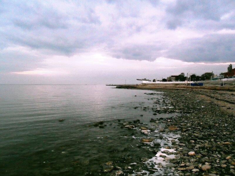 Берег моря, вечер, Приморско-Ахтарск