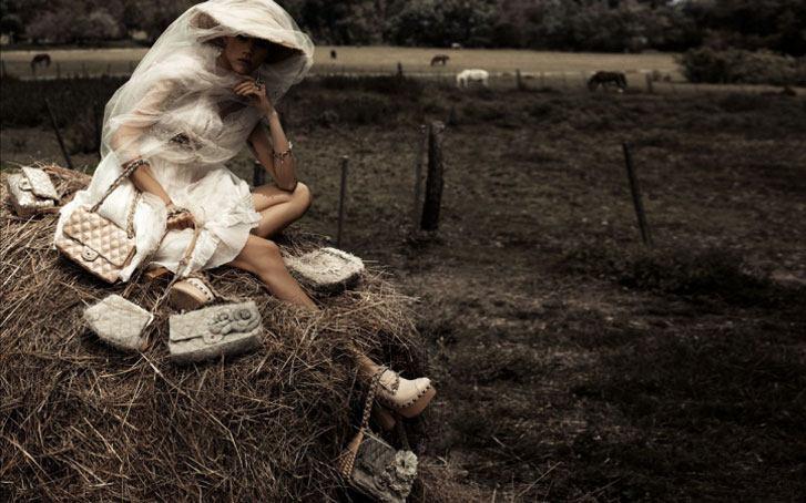 модель Клаудиа Шиффер / Claudia Schiffer, фотограф Karl Lagerfeld