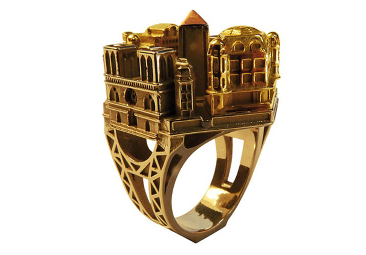 Архитектурные перстни / Architectural Ring by Philippe Tournaire