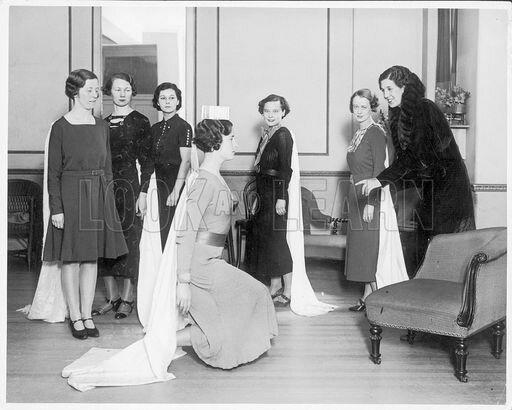 Debutante Learns Curtsey