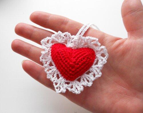 Сердце с руками своими руками крючком