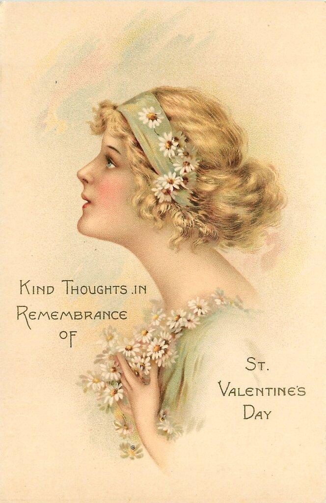 Винтажные открытки к дню святого Валентина -часть вторая, валентинки, винтажные открытки