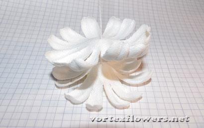 Как сделать ромашку из ткани