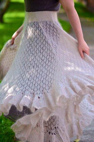 Вязание мохерового платья 2