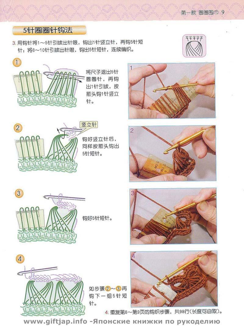 Схема вязания крючком брумстик
