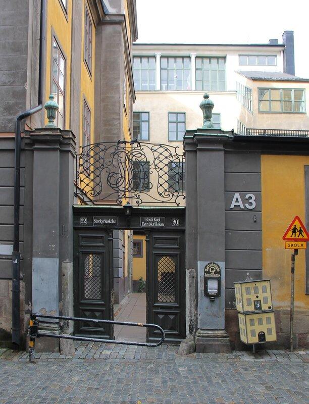 Stockholm, Gamla Stan. School St. Nicholas - Estonian school. Sankt Nikolai Skola - Estniska skolan