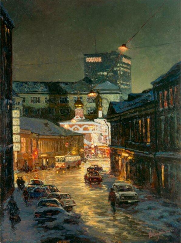 Улица Забелина. 2001.  Муллин Владимир.