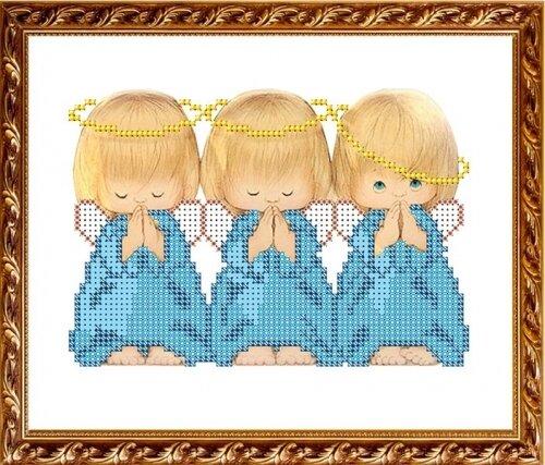 Ангелы три вышивка крестом 398