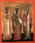 Афанасий и Кирилл Александрийские, Игнатий Богоносец 16в.jpg