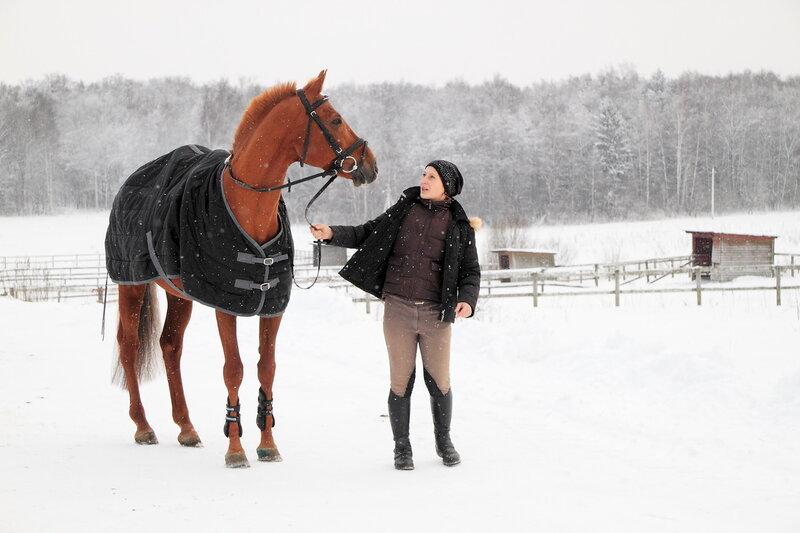 Хозяйка и ее лошадь