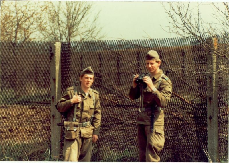 "Scott Huffman - E Troop - border - 1985 - The GAK on the right was dubbed "" Prince Charles "", the resemblance was striking."