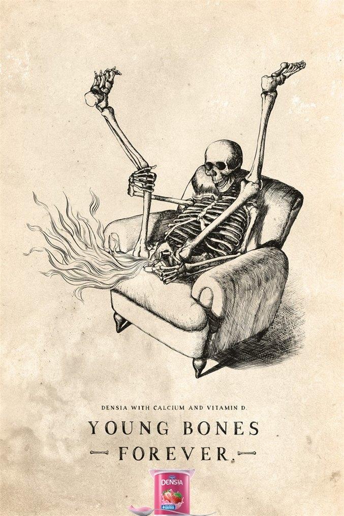 Danone Densia - развлечения скелетов