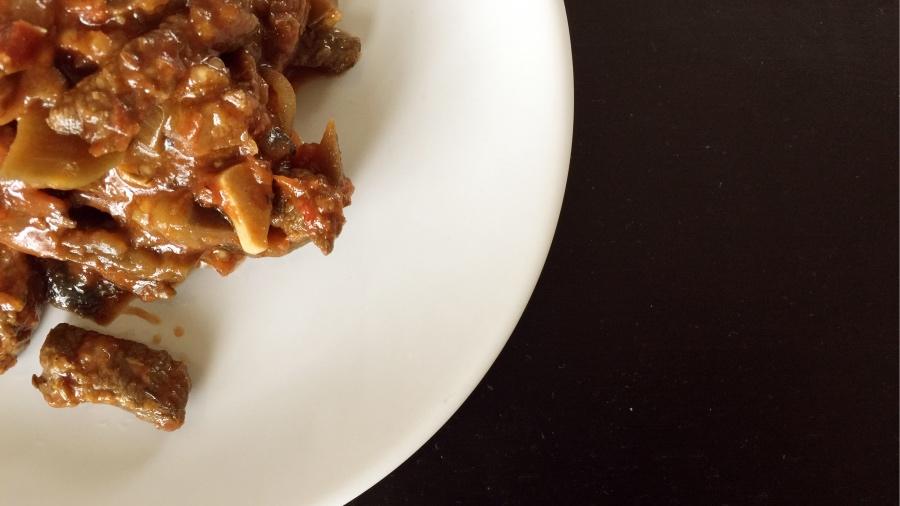 Мясо с баклажанами (от Белоники)