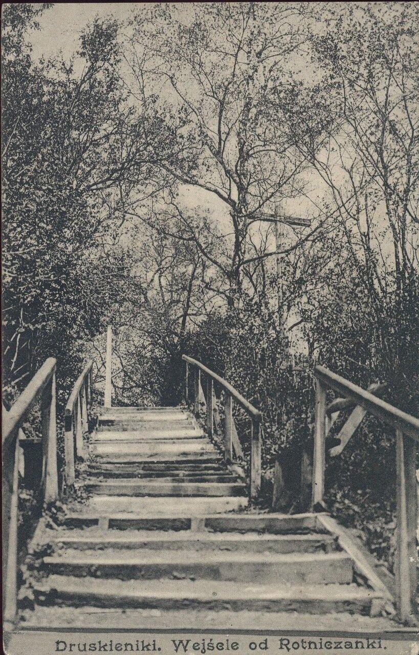 Спуск к реке Ротничанке. 1911