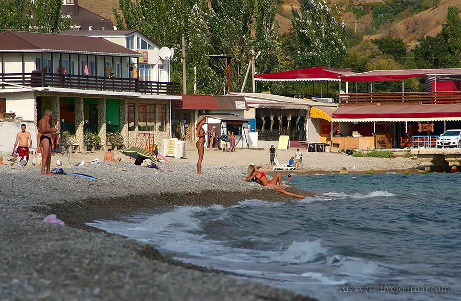 фото поселка курортное крым