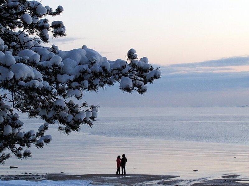 Фото двое зимой 1