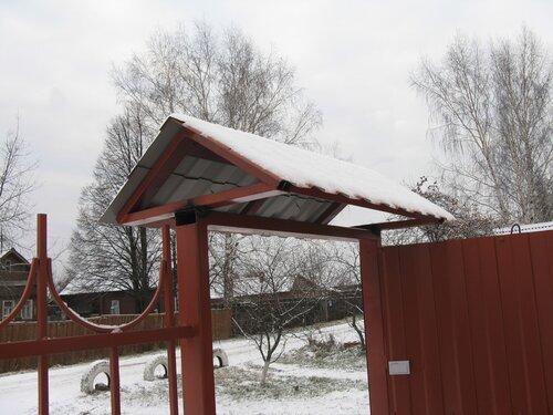 Крыша над воротами своими руками 17