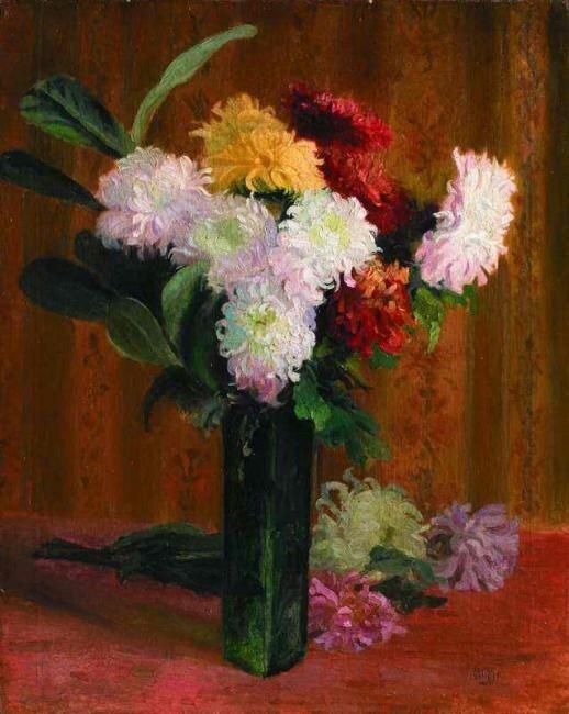 Иванов Сергей Петрович (1893 – 1983)  «Натюрморт с хризантемами»