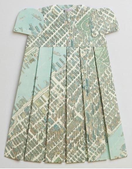 географические платья