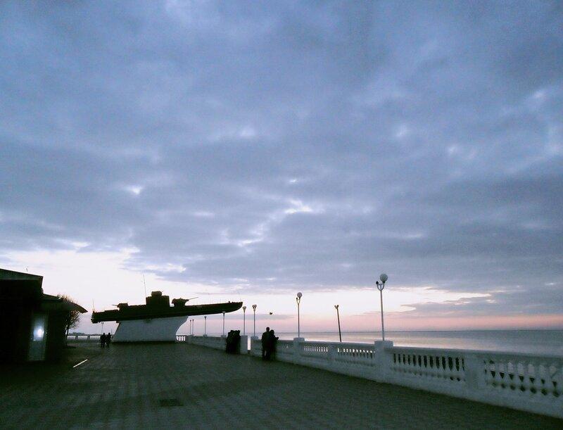 Приморско-Ахтарск, море, закат