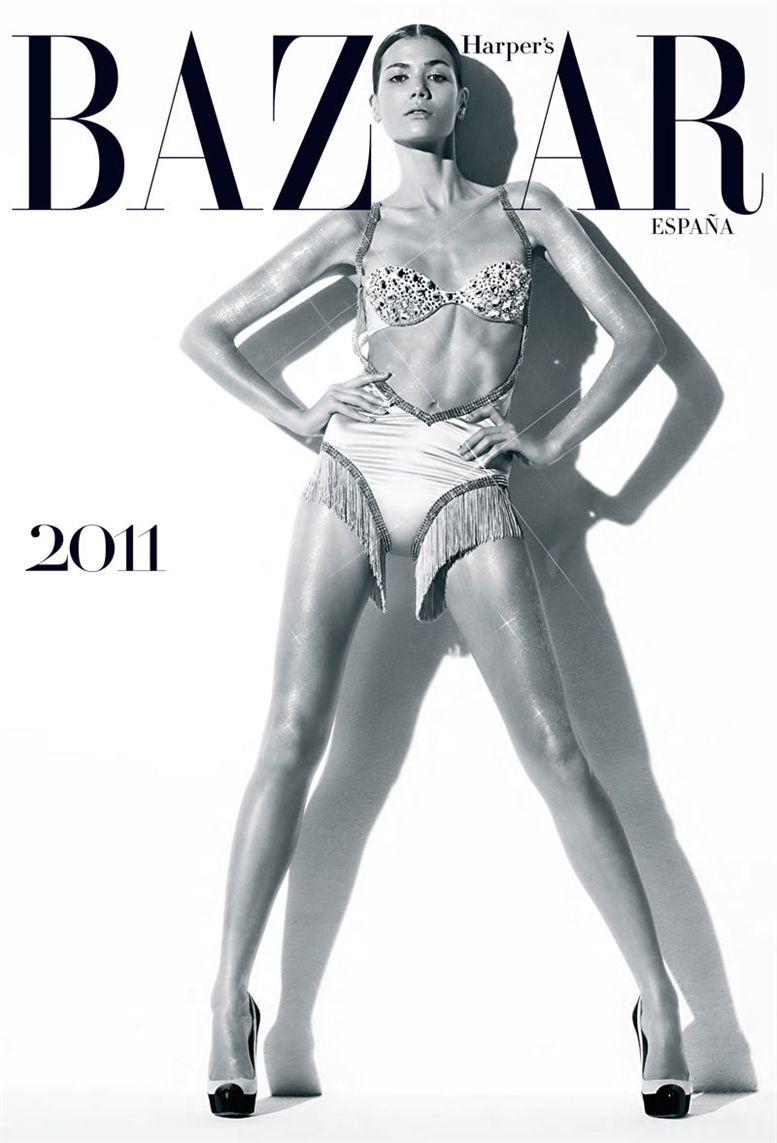 Шейла Маркес / Sheila Marquez by Nico in Harper-s Bazaar Spain 2011 calendar - обложка