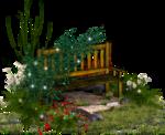 сад  цветы  скамейка.png