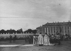 Молебен перед началом парада  полка по случаю  200-летнего юбилея.