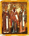 Кирилл и Афанасий Александрийские, Игнатий Богоносец   15 в.jpg