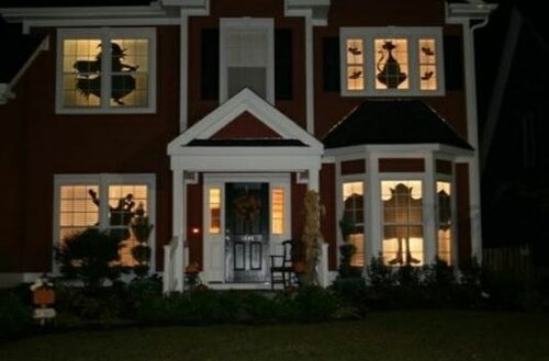 Идеи для украшения окон к Хэллоуину
