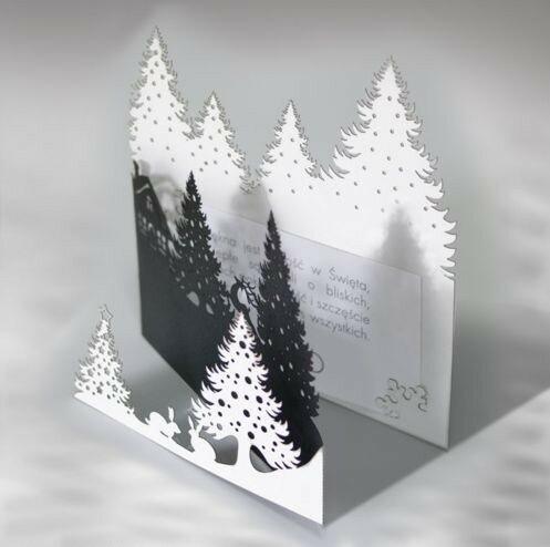 Открытка с зимним пейзажем