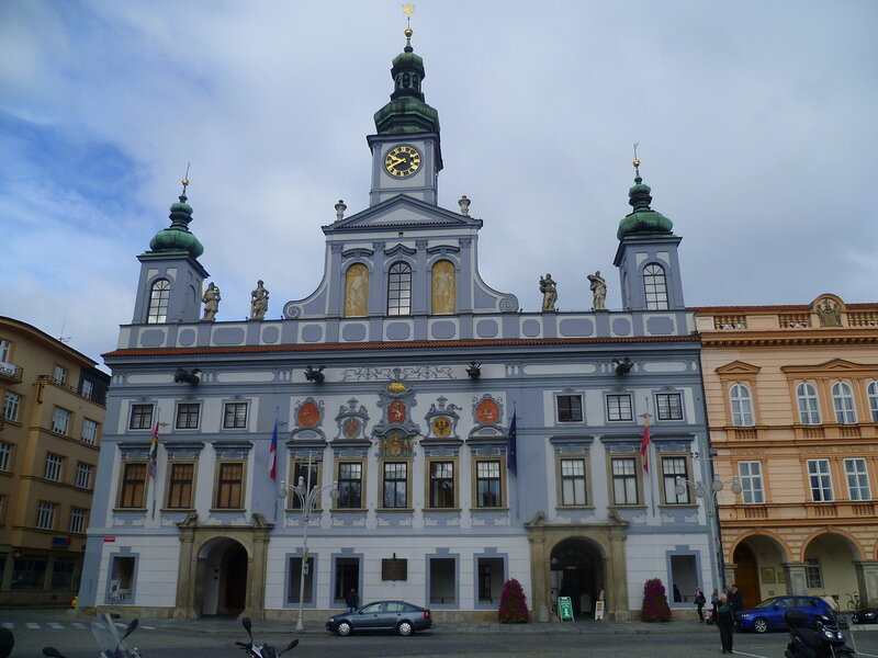 Чехия, Ческе-Будеёвице – ратуша (Czech Republic, Ceske Budejovice - town hall)
