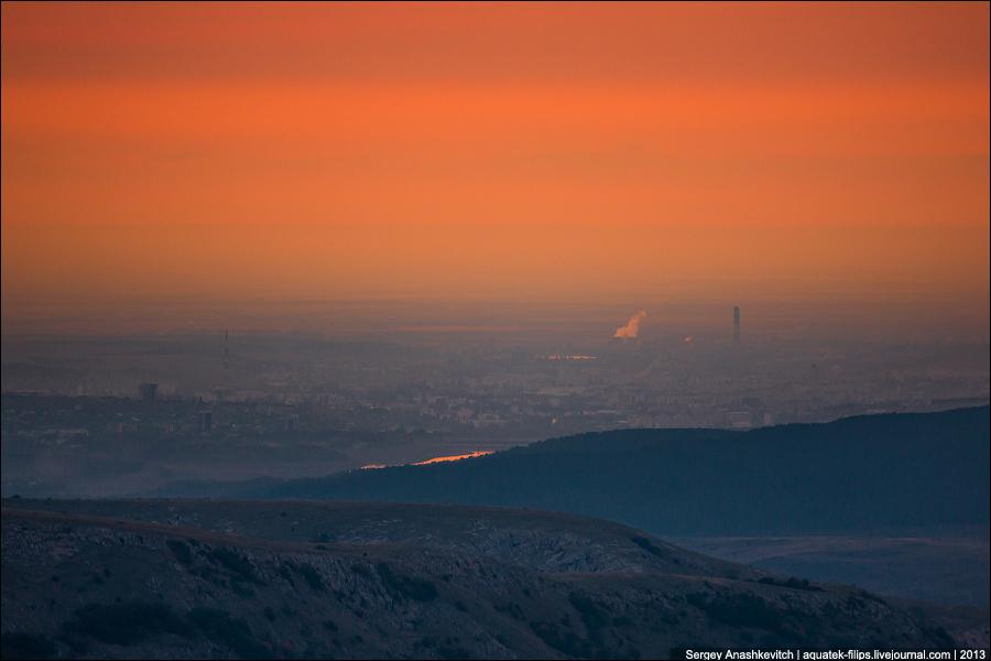 Закат над Симферополем