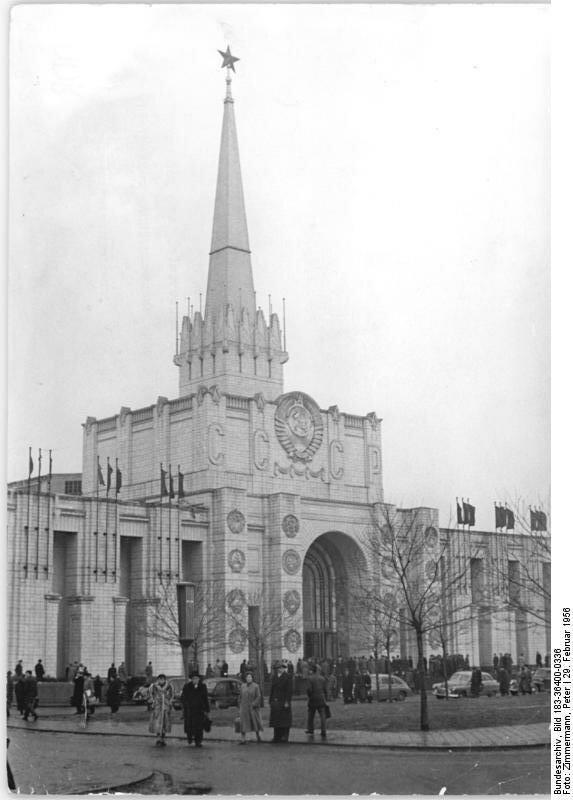 Leipzig, Frьhjahrsmesse, sowjetischer Pavillon