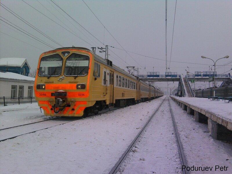 ЭД4М-0236, первый раз на станции Нахабино