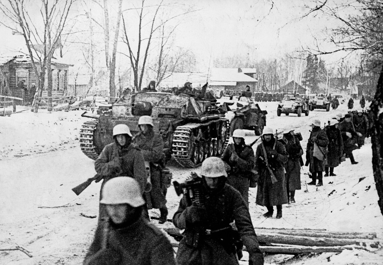 1941.Москва, немецкие войска в окрестностях города